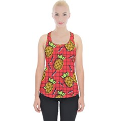 Fruit Pineapple Red Yellow Green Piece Up Tank Top
