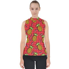 Fruit Pineapple Red Yellow Green Shell Top
