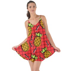 Fruit Pineapple Red Yellow Green Love The Sun Cover Up