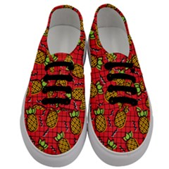 Fruit Pineapple Red Yellow Green Men s Classic Low Top Sneakers