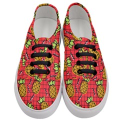 Fruit Pineapple Red Yellow Green Women s Classic Low Top Sneakers