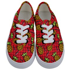 Fruit Pineapple Red Yellow Green Kids  Classic Low Top Sneakers