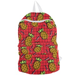 Fruit Pineapple Red Yellow Green Foldable Lightweight Backpack