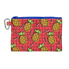 Fruit Pineapple Red Yellow Green Canvas Cosmetic Bag (large)