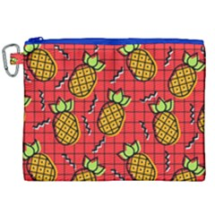 Fruit Pineapple Red Yellow Green Canvas Cosmetic Bag (xxl)