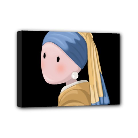 Girl With A Pearl Earring Mini Canvas 7  X 5