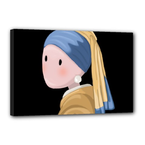 Girl With A Pearl Earring Canvas 18  X 12