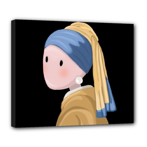 Girl With A Pearl Earring Deluxe Canvas 24  X 20