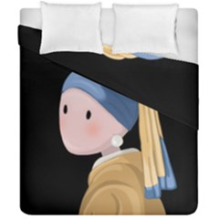 Girl With A Pearl Earring Duvet Cover Double Side (california King Size)