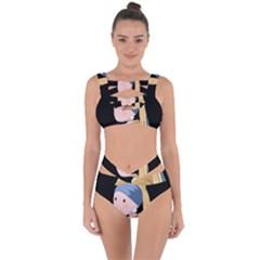 Girl With A Pearl Earring Bandaged Up Bikini Set