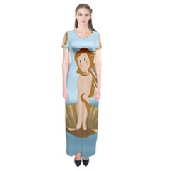 The Birth Of Venus Short Sleeve Maxi Dress