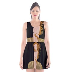 The Birth Of Venus Scoop Neck Skater Dress