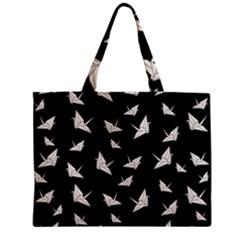 Paper Cranes Pattern Zipper Mini Tote Bag