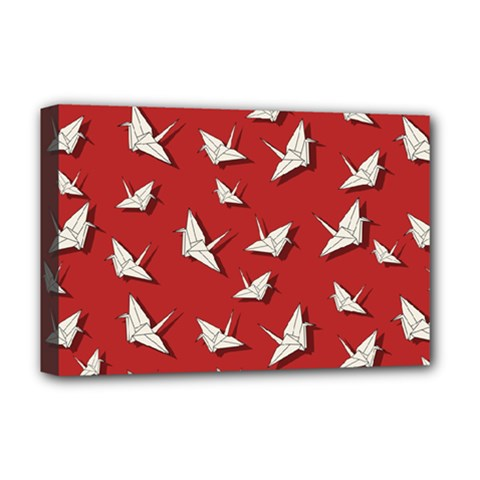 Paper Cranes Pattern Deluxe Canvas 18  X 12