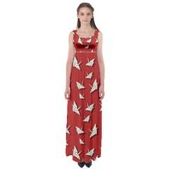 Paper Cranes Pattern Empire Waist Maxi Dress