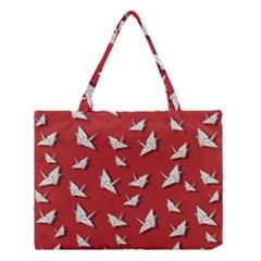 Paper Cranes Pattern Medium Tote Bag