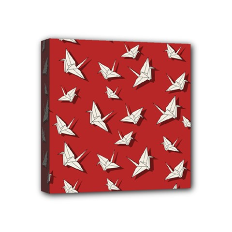Paper Cranes Pattern Mini Canvas 4  X 4