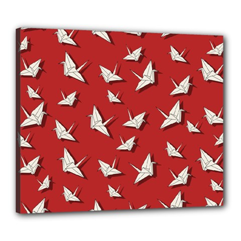 Paper Cranes Pattern Canvas 24  X 20