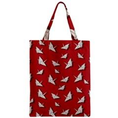 Paper Cranes Pattern Zipper Classic Tote Bag
