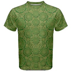 Stars In The Wooden Forest Night In Green Men s Cotton Tee