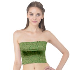 Stars In The Wooden Forest Night In Green Tube Top
