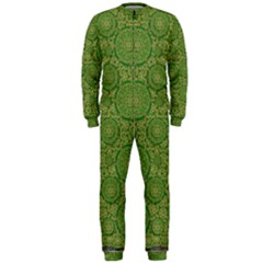 Stars In The Wooden Forest Night In Green Onepiece Jumpsuit (men)