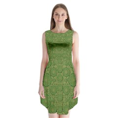 Stars In The Wooden Forest Night In Green Sleeveless Chiffon Dress