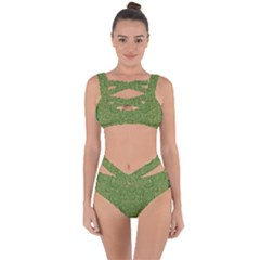 Stars In The Wooden Forest Night In Green Bandaged Up Bikini Set
