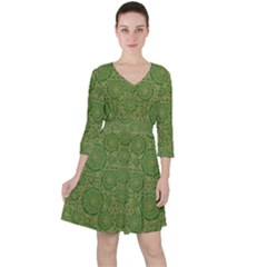 Stars In The Wooden Forest Night In Green Ruffle Dress
