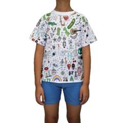Cheerful Combo Kids  Short Sleeve Swimwear