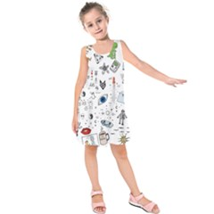 Cheerful Combo Kids  Sleeveless Dress