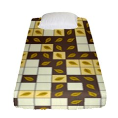 Autumn Leaves Pattern Fitted Sheet (single Size)