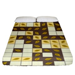 Autumn Leaves Pattern Fitted Sheet (king Size)