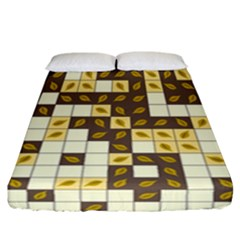 Autumn Leaves Pattern Fitted Sheet (california King Size)