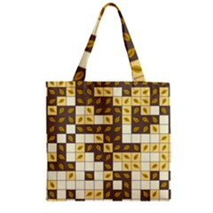 Autumn Leaves Pattern Zipper Grocery Tote Bag