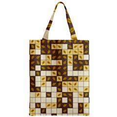 Autumn Leaves Pattern Zipper Classic Tote Bag
