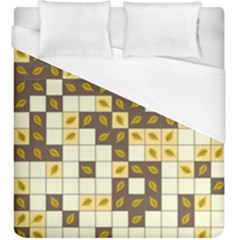 Autumn Leaves Pattern Duvet Cover (king Size)