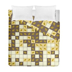 Autumn Leaves Pattern Duvet Cover Double Side (full/ Double Size)