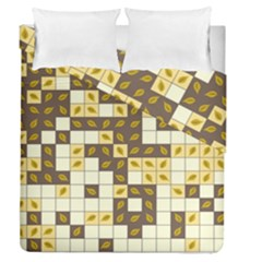 Autumn Leaves Pattern Duvet Cover Double Side (queen Size)