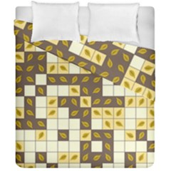 Autumn Leaves Pattern Duvet Cover Double Side (california King Size)