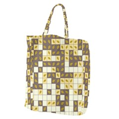 Autumn Leaves Pattern Giant Grocery Zipper Tote