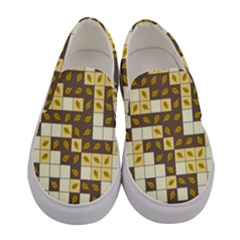 Autumn Leaves Pattern Women s Canvas Slip Ons