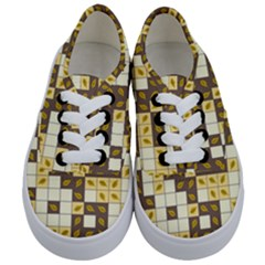 Autumn Leaves Pattern Kids  Classic Low Top Sneakers