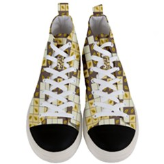 Autumn Leaves Pattern Men s Mid Top Canvas Sneakers