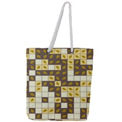 Autumn Leaves Pattern Full Print Rope Handle Tote (large)