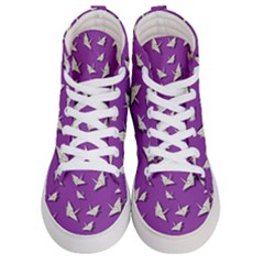 Paper Cranes Pattern Women s Hi Top Skate Sneakers