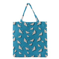 Paper Cranes Pattern Grocery Tote Bag