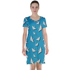 Paper Cranes Pattern Short Sleeve Nightdress