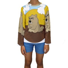 Groundhog Day Kids  Long Sleeve Swimwear
