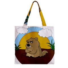 Groundhog Day Zipper Grocery Tote Bag